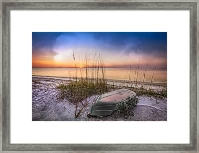 Restful Dunes Framed Print by Debra and Dave Vanderlaan