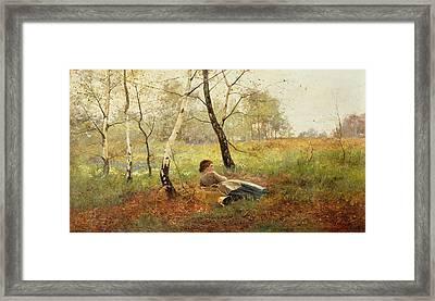 Resting Framed Print by Benjamin Sigmund
