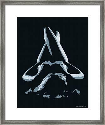 Resting Nude 1 - In Silver Framed Print by Gina De Gorna