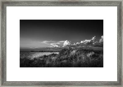 Restless Sky - Bw Framed Print by Marvin Spates