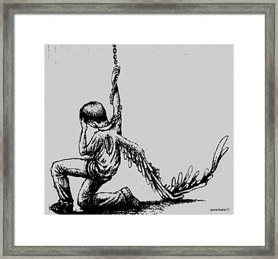 Restricted Freedom Framed Print by Paulo Zerbato