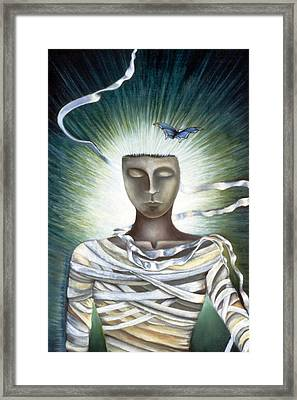 Resurrection Framed Print by Gloria Cigolini-DePietro