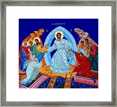 Resurrection In The Bible Framed Print by Munir Alawi