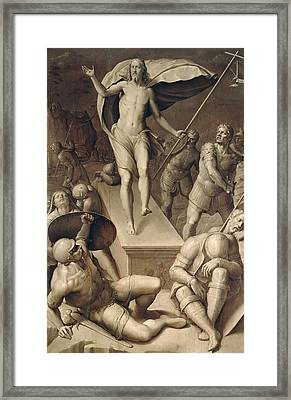 Resurrection Of Christ Framed Print by Italian School