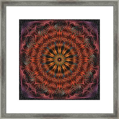 Reticulation Framed Print by Becky Titus