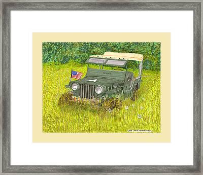 Retired But Still Ready Framed Print by Jack Pumphrey