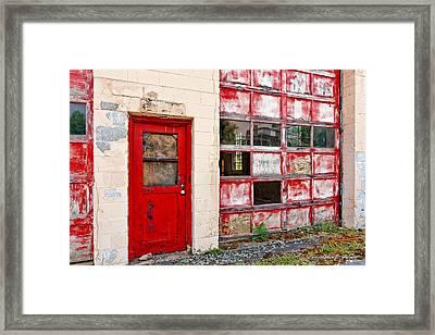 Retired Garage Framed Print by Christopher Holmes