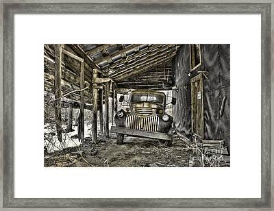 Retired Framed Print by Sari Sauls