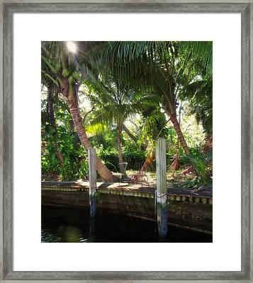 Retreat - New River In Fort Lauderdale Framed Print by Matt Tilghman