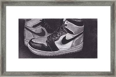 Retro 1.3 Shattered Backboard Framed Print by Dallas Roquemore