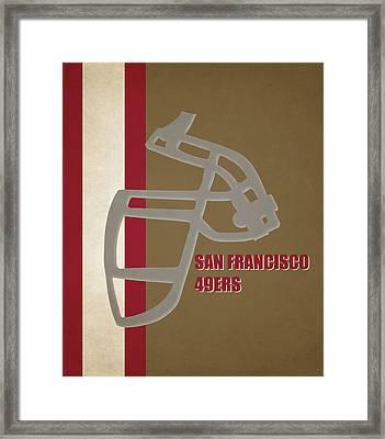 Retro 49ers Art Framed Print by Joe Hamilton