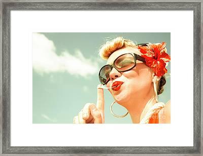 Retro Bubblegum Pin-up Framed Print by Jorgo Photography - Wall Art Gallery