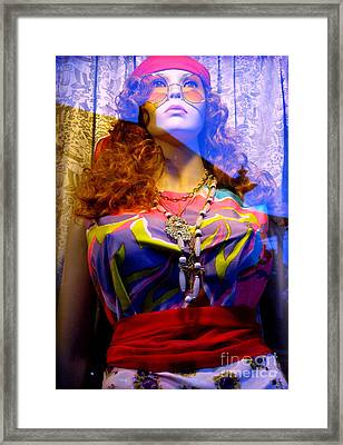 Retro Fashion Framed Print by Colleen Kammerer