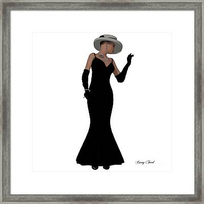 Retro Fashion Dress Framed Print by Corey Ford