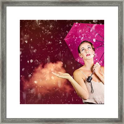 Retro Fashion Storm Framed Print by Jorgo Photography - Wall Art Gallery