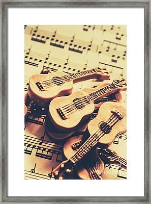 Retro Folk And Blues Framed Print by Jorgo Photography - Wall Art Gallery