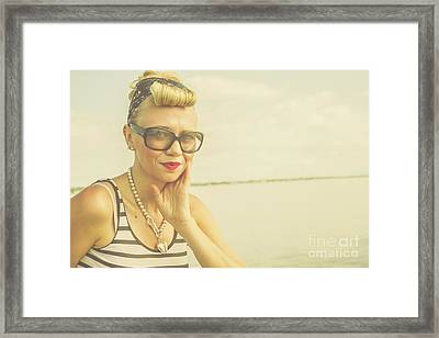 Retro Hair And Fashion Pinup Framed Print by Jorgo Photography - Wall Art Gallery