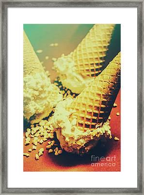 Retro Ice Cream Artwork Framed Print by Jorgo Photography - Wall Art Gallery
