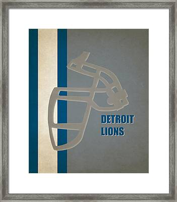 Retro Lions Art Framed Print by Joe Hamilton