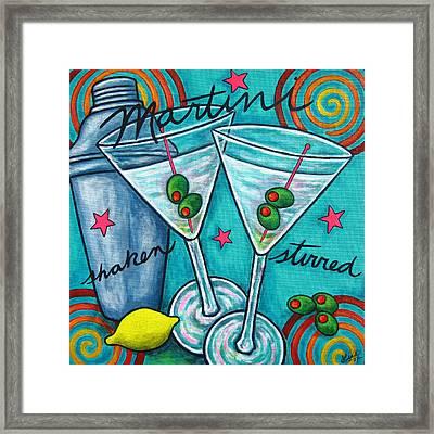 Retro Martini Framed Print by Lisa  Lorenz