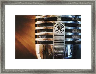 Retro Microphone Framed Print by Scott Norris