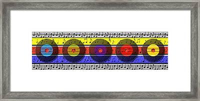 Retro Music Framed Print by Steve Ohlsen