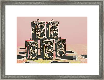 Retro Photo Camera Pop Art  Framed Print by Jorgo Photography - Wall Art Gallery