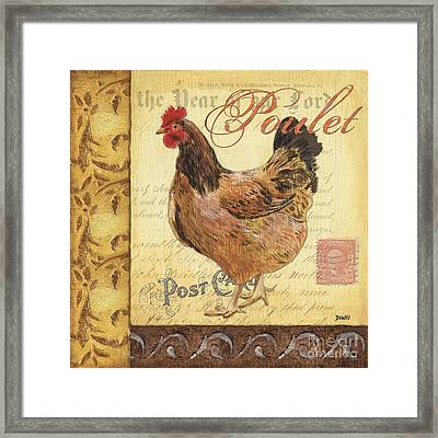 Retro Rooster 1 Framed Print by Debbie DeWitt