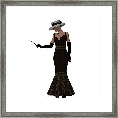 Retro Style Dress Framed Print by Corey Ford