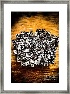 Retro Typesetting In Print Framed Print by Jorgo Photography - Wall Art Gallery