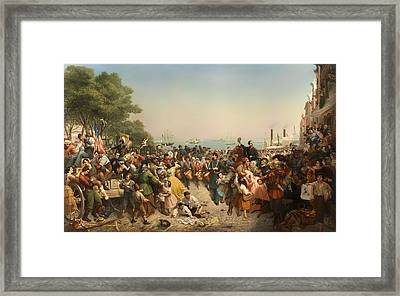 Return Of The 69th Irish Regiment From The 1st Battle Of Bull Run Framed Print by Mountain Dreams