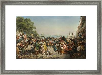 Return Of The 69th Irish Regiment N.y.s.m. From The Seat Of War 1862 Framed Print by Louis Lang