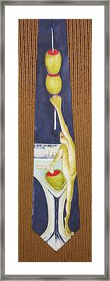 Return Of The Corporate Lunch Framed Print by David Kelly
