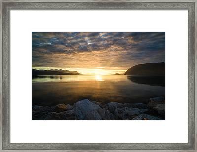 Return Of The Sun Framed Print by Tor-Ivar Naess