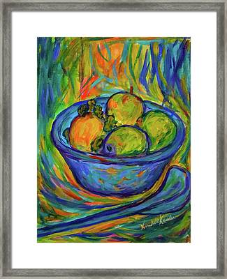 Returning The  Bowl Framed Print by Kendall Kessler