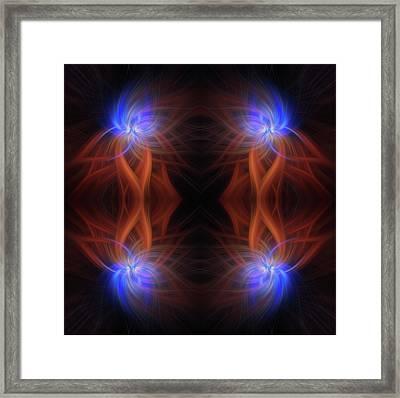 Revealed Light. Mystery Of Colors Framed Print by Jenny Rainbow