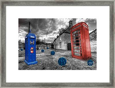 Revenge Of The Killer Phone Box  Framed Print by Rob Hawkins