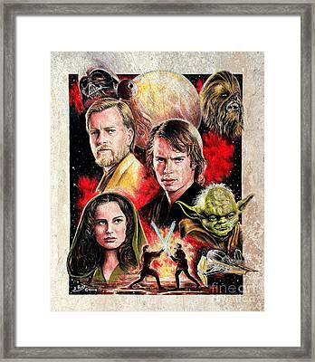 Revenge Of The Sith  Splash Effect Framed Print by Andrew Read