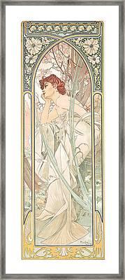 Reverie Du Soir Framed Print by Alphonse Marie Mucha