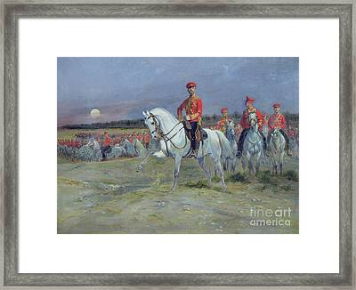 Reviewing The Troops Framed Print by Jean Baptiste Edouard Detaille
