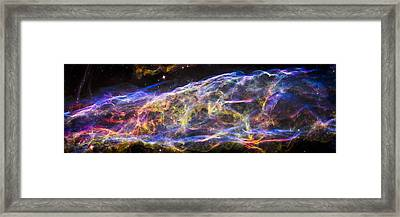 Revisiting The Veil Nebula Framed Print by Adam Romanowicz