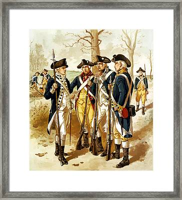 Revolutionary War Infantry Framed Print by War Is Hell Store