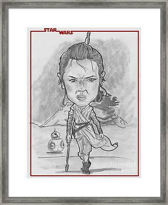 Rey The Force Awakens Framed Print by Chris DelVecchio