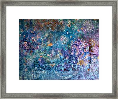 Rhapsody In Blue Framed Print by Don  Wright