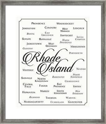 Rhode Island Framed Print by Finlay McNevin