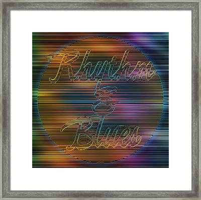 Rhythm And Blues Framed Print by Becky Titus