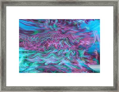 Rhythmic Waves Framed Print by Linda Sannuti