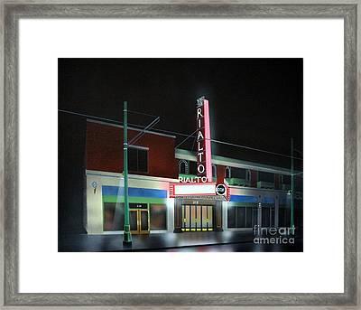 Rialto Theater Tucson Arizona Framed Print by Jerry Bokowski