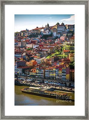 Ribeira Of Oporto Framed Print by Carlos Caetano