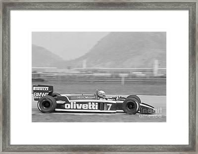 Riccardo Patrese. 1986 Brazilian Grand Prix Framed Print by Oleg Konin